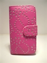 Picture of Samsung i9300 Galaxy S3 Pink Diamond Leather Book Pouch