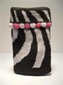 Picture of Black & White Stripe Phone Sock