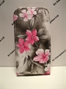 Picture of Samsung Galaxy S3 Mini Grey Floral Leather Case