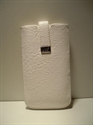 Picture of Phicomm i600 XXL White Leather Thin Strap Pouch