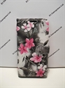 Picture of Galaxy E5 Grey Floral Leather Wallet Case