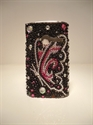 Picture of Sony Ericsson W150/Yendo Black Butterfly Diamond Style Case