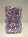Picture of Blackberry Curve 9320 Aqua & Pink Speckled Case