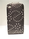 Picture of Ipod Touch 4 Black Diamond Leather Case