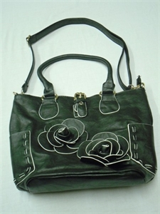 Picture of Twin Flower Bag, Black