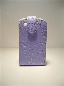 Picture of Blackberry 8520 Curve Lavender Diamond Leather Case