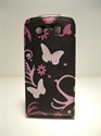 Picture of Blackberry Torch 9860 Black Butterfly Leather Case