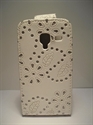 Picture of Galaxy Ace 2, i8160, White Diamond Leather Case