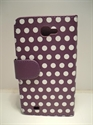 Picture of Galaxy Note N7000 i9220 Purple Spotted Book Pouch