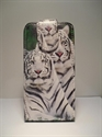 Picture of Nokia 300 White Tiger Leather Flip Case