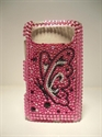 Picture of HTC HD7 Pink & Black Butterfly Case