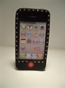 Picture of i Phone 4 Black Diamond Pattern Silicon Case
