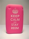 Picture of iPhone 3 Pink 'Keep Calm' Silicone Case