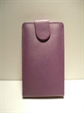 Picture of HTC Butterfly S, Purple Leather Case