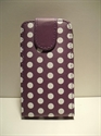 Picture of Nokia Lumia 710 Purple Spotty Leather Case