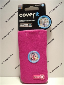 Picture of Pink Screen Guard Phone Sock