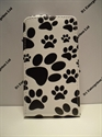 Picture of Nokia 520 Black & White Paw Print Flip Case