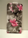 Picture of Nokia Lumia 620 Grey Floral Leather Case