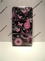 Picture of Nokia 925 Black Butterfly Floral Leather Case
