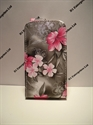 Picture of Nokia Asha 201 Grey Floral Leather Case