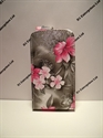 Picture of i Phone 4G/S Grey Floral Leather Cases
