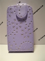 Picture of HTC Desire C Lilac Diamond Leather Case