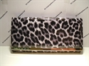 Picture of Large Glossy Leopard Print Purse-Black