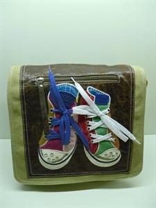 Picture of Retro Canvas Shoulder Bag-Khaki