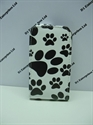 Picture of Samsung Galaxy Y, S5360 Paw Print Leather Case