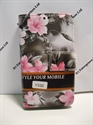 Picture of Huawei Y330 Grey Floral Wallet Case