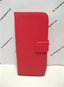 Picture of HTC M8 Red Leather Wallet Case