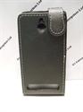 Picture of Xperia E1 Black Leather Flip Case