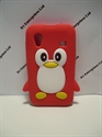 Picture of Samsung Galaxy Ace Red Penguin Silicone Cover