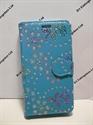 Picture of LG Spirit Aqua Floral Diamond Leather Wallet Case