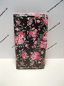 Picture of Microsoft Lumia 950 Black & Pink Floral Wallet Case