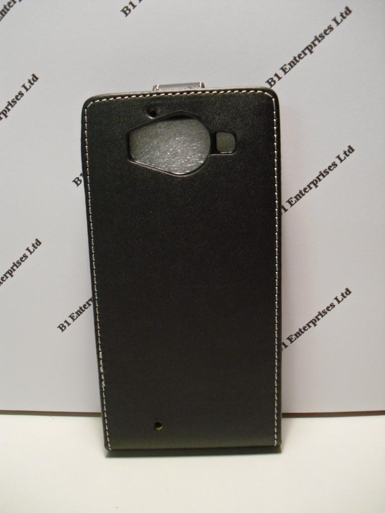 size 40 c444e fe376 Microsoft Lumia 950 Black Leather Flip Case| Huawei cases and covers ...