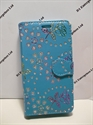 Picture of Moto X Style Aqua Diamond Floral Wallet Case