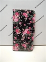 Picture of Sony Xperia M4 Aqua Black and Pink Rose Leather Wallet Case
