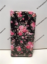 Picture of Galaxy S6 Edge Black Floral Leather Wallet Case