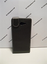 Picture of Xperia M2 Black Leather Flip Case