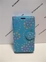 Picture of LG Joy Aqua Floral Diamond Floral Wallet Case