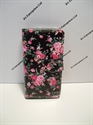Picture of LG Joy Black And Pink Floral Leather Wallet Case.