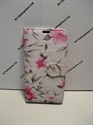 Picture of Sony Xperia E3 White Floral Leather Wallet Case