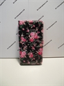 Picture of Huawei Y6 Black And Pink Floral Leather Wallet Case