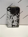 Picture of Blackberry Curve 9360 Black Floral Leather Flip Case