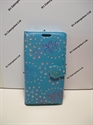 Picture of Smart Prime 6 Aqua Floral Diamond Leather Wallet Case