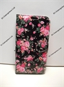 Picture of Smart Prime 6 Black & Pink Floral  Leather Wallet Case