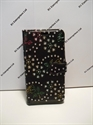 Picture of Sony Xperia Z5 Black Floral Diamond Leather Wallet Case
