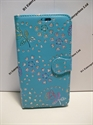 Picture of HTC One M10 Aqua Floral Diamond Leather Wallet Case
