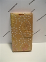 Picture of Desire 610 Gold Floral Diamond Leather Wallet Case